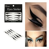 application eye liner - Hot Sale Fashionable Black Eye Liner Stickers Decorations Eye Art Easy Application Temporary Waterproof Eyeliner