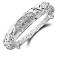 acting factory - Sterling silver bracelet Long Fengxiang f fine silver bracelet Bracelet first act the role ofing is tasted High end hot style factory
