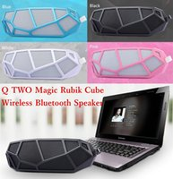 Q Deux Q2 magique Rubik Cube sans fil Bluetooth Mini haut-parleur lecteur de musique portable Box Car Handsfree MIC Supporte TF carte USB Radio FM