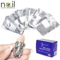 aluminium polished - New Aluminium Foil Nail Art Soak Off Acrylic Gel Polish Nail Remover Wraps