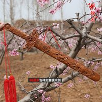 authentic sword - Taomu crafts Taomu Jian authentic high end home accessories auspicious gift sword carvings