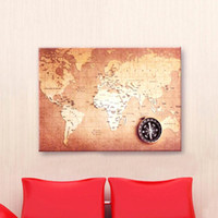 antique world map canvas - Newest Canvas World Map Retro Vintage Antique Poster Wall Sticker Chart Home Decor