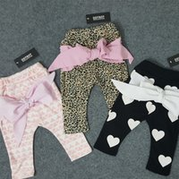 baby best designs - Hot in INS Baby girls cute bowknot PP pants infant leopard print long trousers black pink heart design spring autumn Harem cross Pant Best