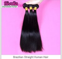 cambodian hair - Brazilian Human Hair Extensions Virgin Brazilian Hair Bundles Unprocessed Peruvian Indian Malaysian Cambodian Straight Hair Weaves Free Ship
