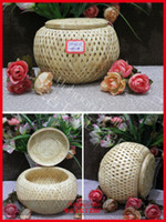 woven basket - Environmental bamboo weave basket storage candy basket for household storage organization useful Chinese traditional crafts
