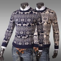 Wholesale FG1509 New High Quality Brands Men s Sweaters Knitting Winter Men s O Neck Cotton Sweater Pullover Sweater Men