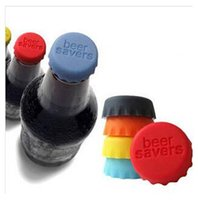 Wholesale Wine Stoppers Beer Bottle Caps Best Wine Gifts Accessories for Wine Bottles Seal Wine with Reusable Silicone Bottle Cap Art TOP740