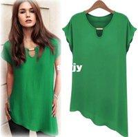 Cheap Plus Size Chiffon Shirts Best Women Summer Blouse