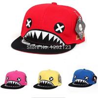 Wholesale Unisex Kpop Baseball Cap Shark Mark Funny Hat Idol Style Fashion Hippop Caps Snapback Visors