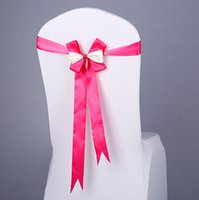 Wholesale Free EMS DHL No need to Tie the Knot Luxurious Elastic Wedding Chair Cover Sashes Sash Party Banquet Decoration Bow