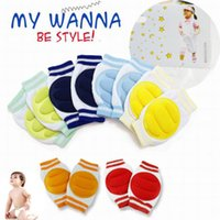Wholesale 6 Colors Stylish Pair Kids Safety Crawling Elbow Cushion Infants Toddlers Baby Knee Pads Protector Leg Warmers Baby Kneecap