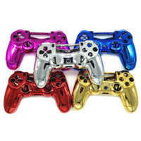 Wholesale Hot Wireless Game Chrome Controller Gamepad Shell For PS4 Wireless Controller Pack of Colors