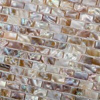 Wholesale Subway kitchen backsplash mother of pearl tile brick mosaics bathroom wall ideas mirror shower floor discount shell pearl tiles