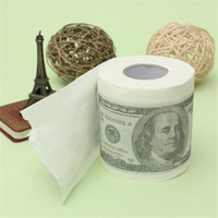 bathroom dollar - 1pc Creativity Novel Dollar Money game Roll Towel Toilet Paper For Bathroom order lt no track