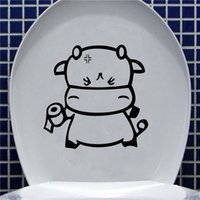 american seating - Hot Sale Lowest Price DIY Funny Cartoon Toilet Seat Stickers Bathroom Refrigerator Wall Home Decal Art