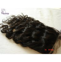 Wholesale Charming Hair High Quality Cheapest Product Free Part x5 Peruvian Curly Human Hair Bleached Knots Silk Top Closure Piece