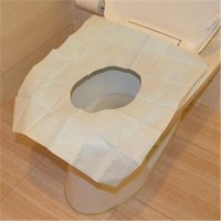 Wholesale 10Pcs Disposable Paper Toilet Seat Covers Camping Festival Travel Loo