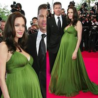 dresses for pregnant women - Runway Fashion Angelina Jolie Celebrity Evening Dresses Meternity Evening Dresses For Pregnant Women Plus Size Puffy Chiffon Open Backs LA