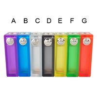 Colorful ABS Mod Box E Cigarette Box com ABS Caixa de luz colorida Vapor Acrílico Mod Top Em Estoque DHL freeshipping