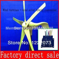 Wholesale Low rpm wind power generator Max Power w v wind generator Rated Power W with Wind Solar Hybrid Controller LED Display