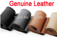 Wholesale nterior Accessories Steering Covers Sizes Colors High quality Genuine Cowhide Leather Steering Wheel Cover streeing covres steering