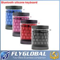 Compra Teclado flexible de bluetooth-Mini teclado inalámbrico Bluetooth rollo suave de agua de teclado de silicona flexible resistente para el iPhone iPad Tablet Laptop flyglobal Android