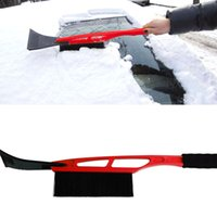Wholesale Hippo Multifunction Retractable Snow brush Snow Remover Ice Scraper Brush Stickers for Car Truck Window Cleaning Red