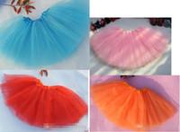 Wholesale Top Quality candy color kids tutus skirt dance dresses soft tutu dress ballet skirt layers children pettiskirt clothes DHL Free