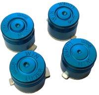 Wholesale 4x Aluminum Metal Bullet Buttons Mod Kit Set for Playstation PS4 Controller