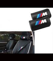 Wholesale Car Headrest BMW M Carbon Fiber Style Car Seat Neck Cushion Pillow Headrest Embroidery Pillows pillow Head Neck Rest Cushion For M1