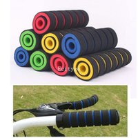 Wholesale pieces pack Bike Foam Handlebar A2 Soft Sponge Bar Grips For Bicycle Cycling Bike blue yellow red green