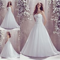 drop waist - Sexy White Ball Gown Wedding Dresses Sweetheart Cross Over Ruched Dropped Waist Beaded Applique Floor Length Bridal Gown Dress Custom Made