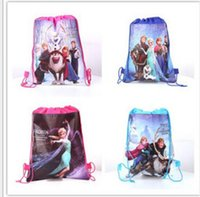 Wholesale Hot Frozen Draw String Bags Baymax Double Faced Non woven Stuff Bags Children Packbags Tutorial Back Sacks Buggy Bags Kids School Bags
