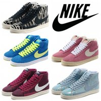 zebra print - Nike Blazer Mid Print Casual Shoes Original High Cut Skate Shoes Discount Classic Campus Lovers Zebra Sneakers Authentic Boots