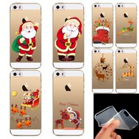 beautiful presents - Present Phone Skin Beautiful Cute Father Christmas Pattern Ultra Thin Soft Cover Case For iPhone S