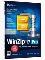 Operating System backup software - File compression encryption packaging and data backup software WinZip Pro v17 English Edition