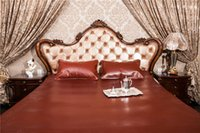 Wholesale Rufous reddish hard sleeping leather mat for Summer at bedroom