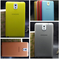 For Samsung Plastic For Christmas 0.3mm Colorful Slim Frosted Transparent Clear Soft PP Cover Case Skin Shell for Samsung Galaxy Note III 3 N9000 Free Shipping MOQ:10pcs