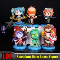 Wholesale LOL Sona Buvelle Lulu Ezreal Lee Sin the Blind Monk Boxed PVC Action Figure Collection Model per set