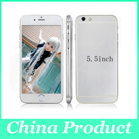 Wholesale 5 inch Goophone i6 i6 Dual Core MTK6572 can show fake G G Android G Phone call Show G Smart Phone