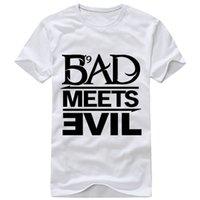bad boy t shirts - New Arrivals Men T Shirts Printing Eminem Bad Boy Short Sleeved Cotton Rock Musi Male T Shirt For Men