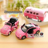 Wholesale New Fashion Kawaii Hello Kitty series Cartoon Car Decoration Beetle Cabriolet models Interior Accessories HOME