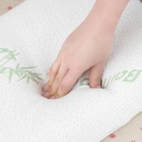 Wholesale Custom Design Print Logo New Party Sleep Bamboo Fiber Slow Rebound Memory Foam Pillow Cervical Health Care Miracle Bamboo Pillow Shipping