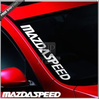 Wholesale DP_ Car Styling MAZDA SPEED CX7 RX7 RX8 Mazdaspeed Window Front Rear Decal sticker For All Mazda Cars