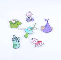 Wholesale Random Mixed Holes Pattern Lovely Baby Wood Sewing Buttons Scrapbooking D2744