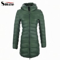 Wholesale Luxury Women Winter Ultra Light Weight Long Down Hooded Coat Parka Womens Long Winter Duck Down Coats and Jackets with Hood