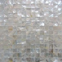 Wholesale Luxury decoration mm Seamless Whitelip shell mosaic tile bathroom washroom wall tile kitchen backsplash