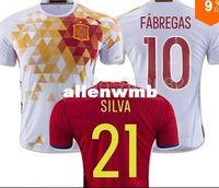 wholesale soccer jerseys - 2016 Spain home away Soccer Jerseys TORRES XAVI FABREGAS Best Thai Quality soccer shirt