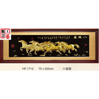 antique horse paintings - Eight Horses plaque den living room stereo floating antique carved resin decorative painting modern paintings