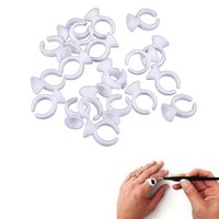 Wholesale Makeup Disposable Eyelash Extension Glue Rings Adhesive Tattoo Pigment Well Holder